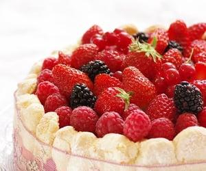 blackberry, custard, and dessert image
