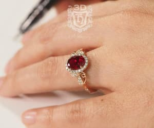diamond ring, engagement rings, and floral ring image
