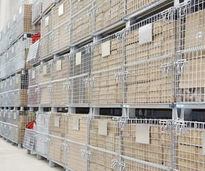 cage pallet, wire mesh container, and roll container image