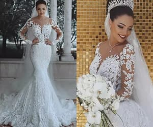 mermaid wedding dress, luxury wedding dress, and wedding dresses for bride image