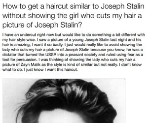 funny, hair, and stalin image