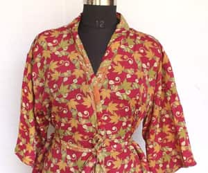 dressing gown, Vintage Fabric, and women's clothing image