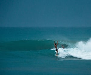 blue, surf, and surfing image