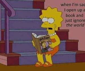 book, harry potter, and lisa simpson image