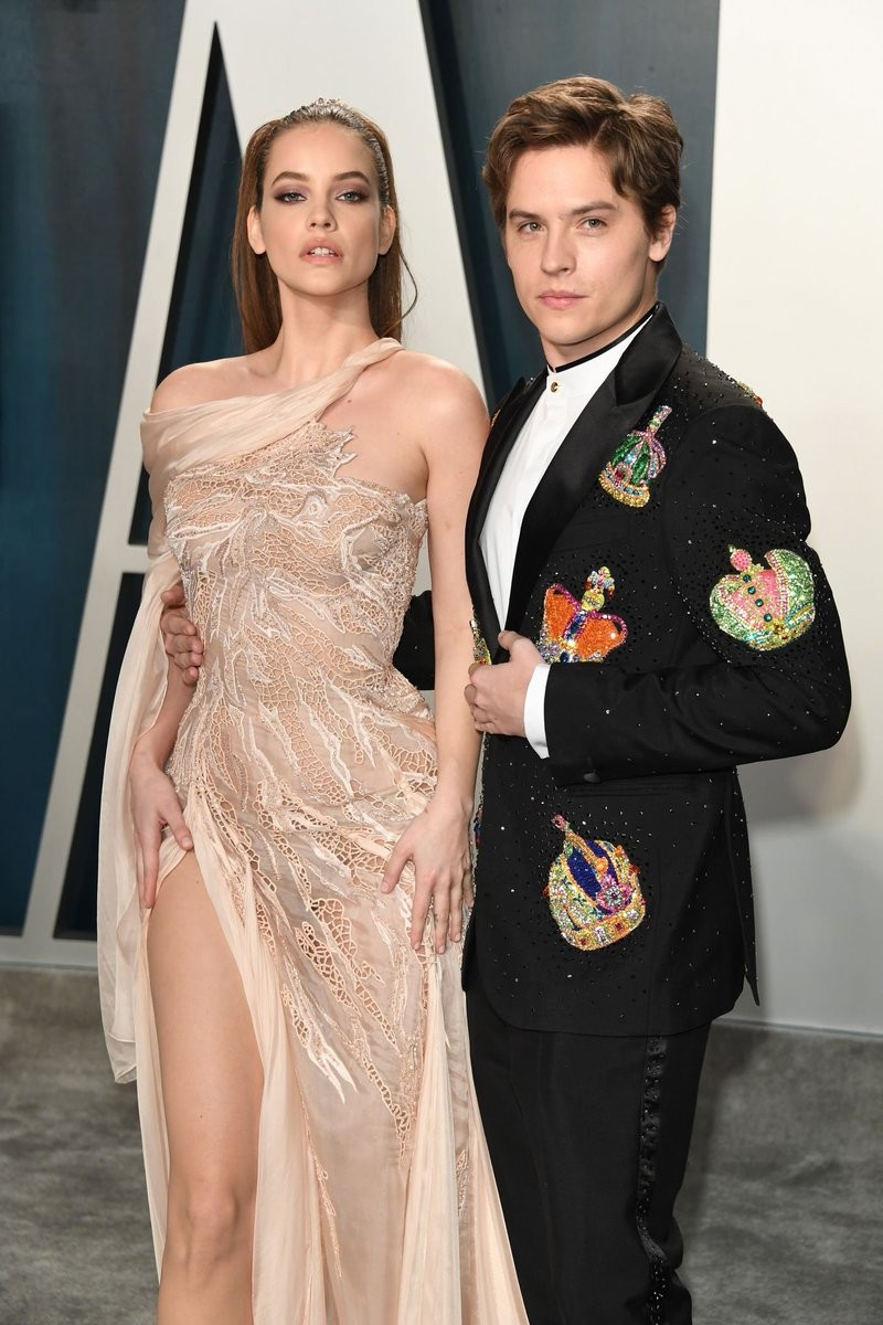 Dylan Sprouse Barbara Palvin Barbara Palvin At The Vanity Fair Oscars Party