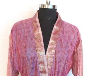 dressing gown, Vintage Fabric, and kimono jacket image