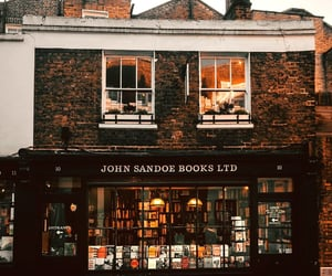 books, bookstore, and brown image