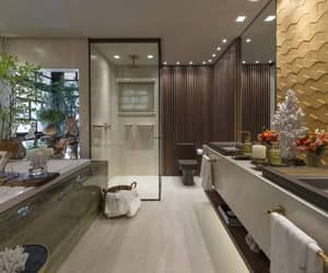 bathroom, decor, and decoration image
