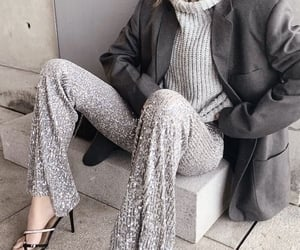 blazer, street style, and winter image