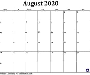 black and white, august calendar, and minimalist design image