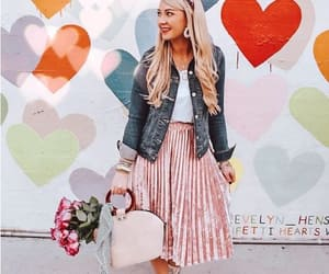 pleated pink skirt image