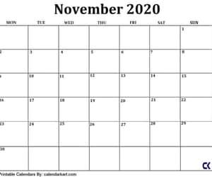 november calendar, free downloadable, and black & white calendar image
