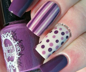 nails, purple, and dots image