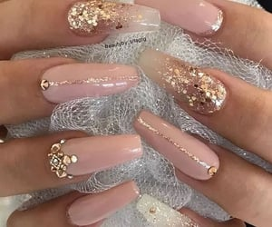beauty, pink nails, and nail ideas image