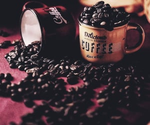coffee, coffee beans, and drinks image