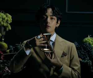 kpop, v, and kim taehyung image