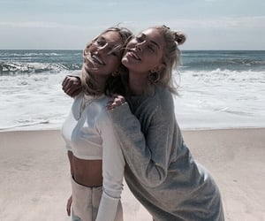beach, friendship, and girl image