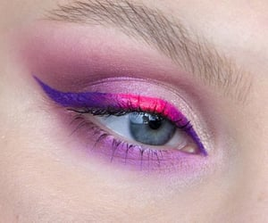colours, eye liner, and pretty image