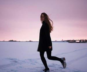 girl, walking, and running image