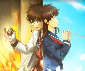 kaito, aoko, and detectiveconan image