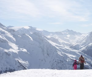 mountain, ski, and white image