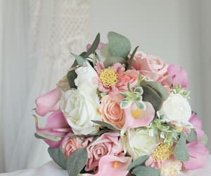 bouquet, bride, and chic image