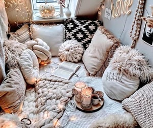 home, interior, and pillow image