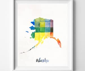 etsy, gift for her, and alaskamap image