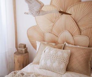 bedroom, beige, and home image