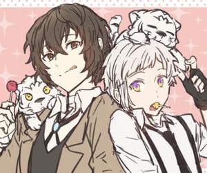 atsushi, bungou stray dogs, and dazai image