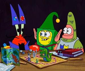 patrick, spongebob, and spongebob squarepants image