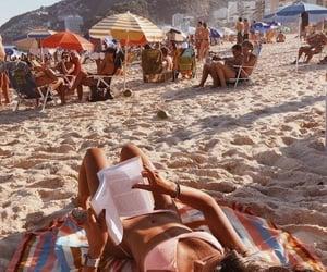 beach, sun, and books image
