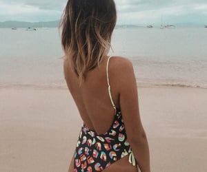 beach, model, and summer image
