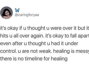 break up, feelings, and feels image