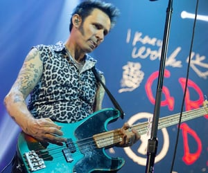 animal print, mike dirnt, and green day image