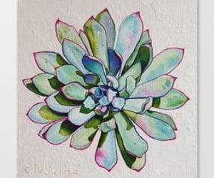 home decor, cactus art, and cactus wall art image