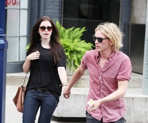 couple, Jamie Campbell Bower, and mirror mirror image