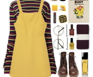 aesthetic, yellow, and outfit image