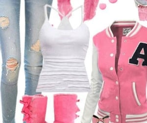 pink, pink jacket, and pink boots image