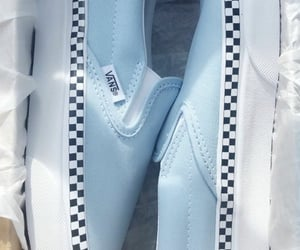 shoes, vans, and baby blue image
