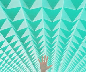 green, minty, and hand image