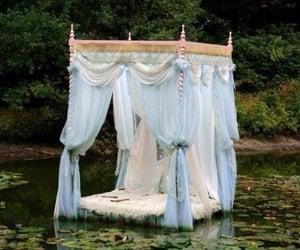 bed and lake image