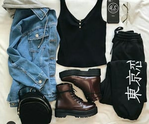 black, jeans, and tuta image