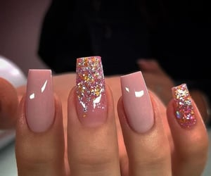 glitter, nails, and punk image