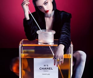 actress, brown hair, and chanel image