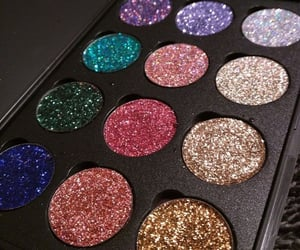 beauty, glitter, and maquillage image