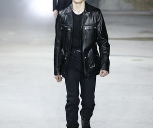 jacket, leather, and menswear image