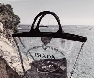bag, Prada, and beach image