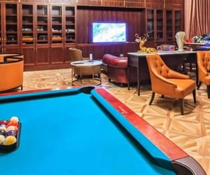 home entertainment and ultimate luxury man cave image