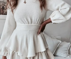 white outfits dress and fashion simple lovely image